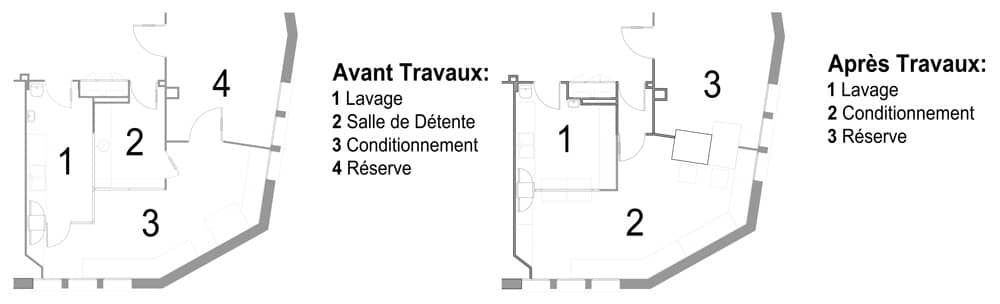 Réaménagement des Zones Vestiaires, Conditionnement et Chimio de la Clinique Paulmy4